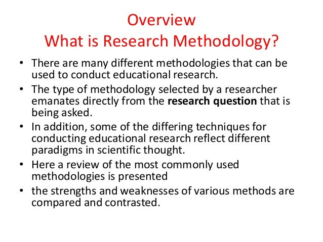 What is Research Methodology?