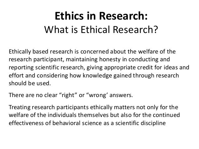 why is ethics important in psychology
