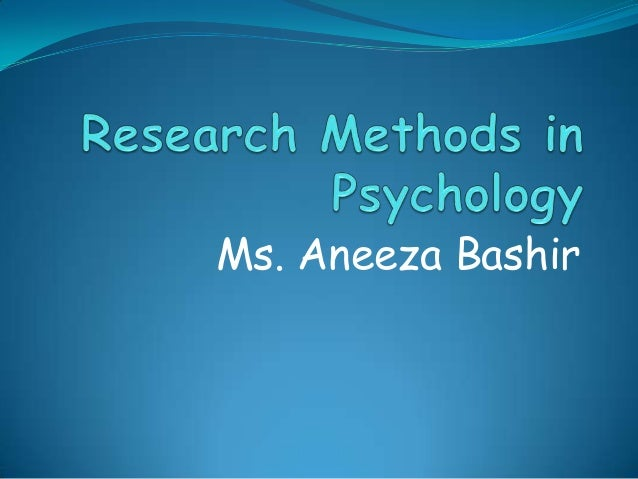 psychology research methods essays