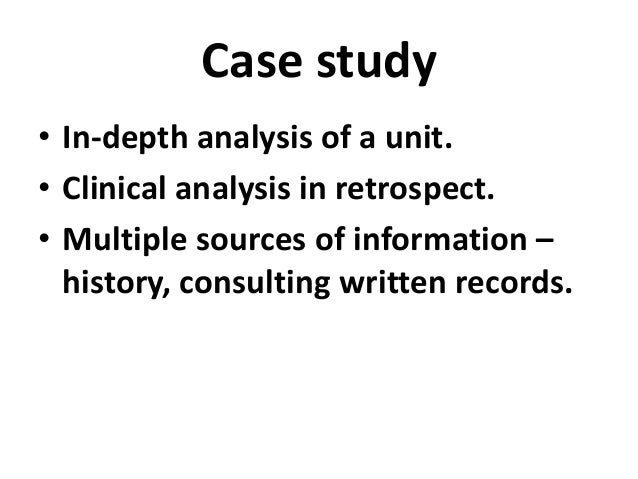 History of case study method in psychology