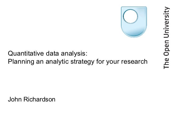 Data analysis techniques used in quantitative research
