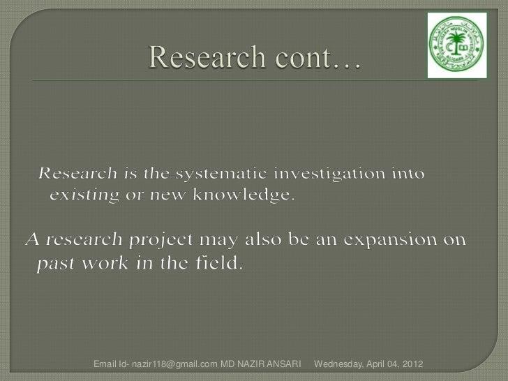 Email Id- nazir118@gmail.com MD NAZIR ANSARI   Wednesday, April 04, 2012