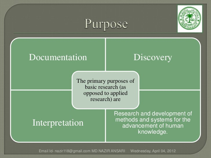 Documentation                                     Discovery                     The primary purposes of                   ...