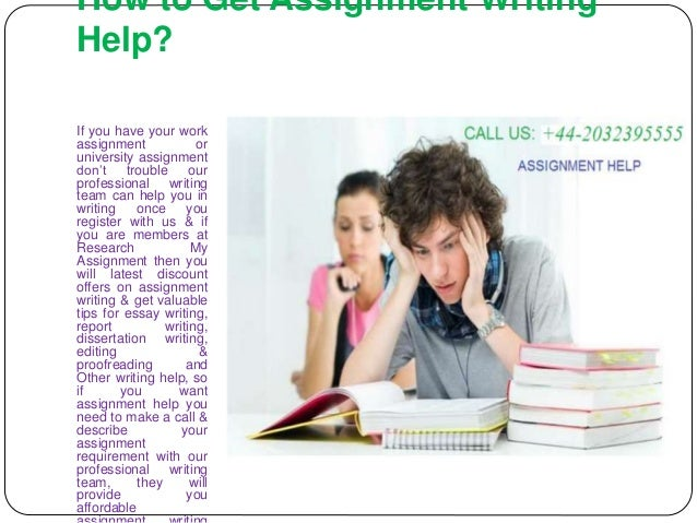 writing assignments help