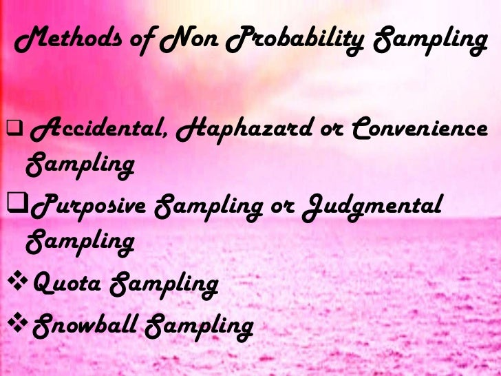 probability sampling vs non probability sampling pdf