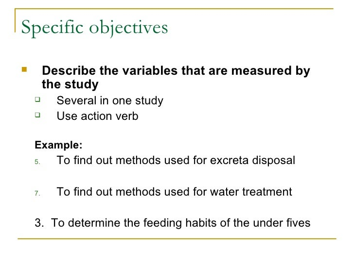 What is objectives in thesis