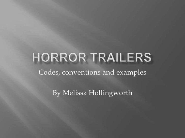 Codes, conventions and examples    By Melissa Hollingworth