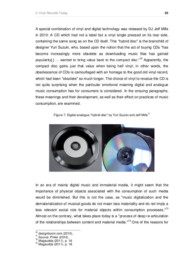 Research Of The Current Status Of Vinyl Records In Context