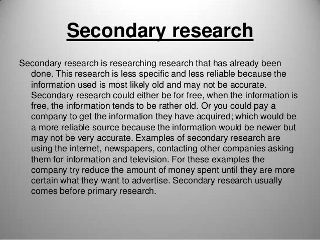 Types of Research Slide 2