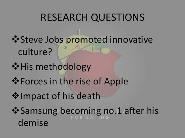 research on steve jobs When apple founder steve jobs died a few months ago, there was an unprecedented reaction to the death of a business leader in the week or so after his.