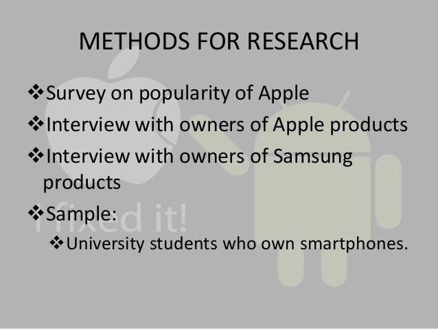 apple inc research proposal Find essays and research papers on apple inc at studymodecom we've helped millions of students since 1999 join the world's largest study community.
