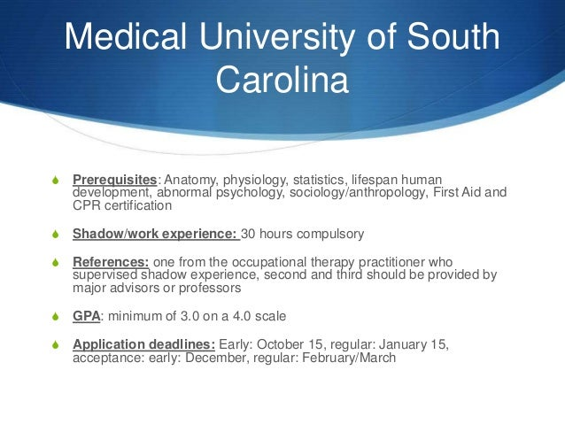 Occupational Therapy Prerequisites >> Research on career ot