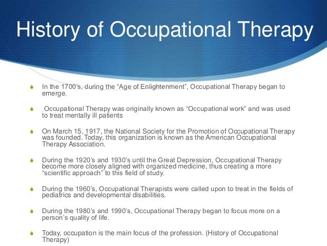 an introduction to the research of occupational therapy Curtin home  handbook  units  introduction to occupational therapy professional practice  to occupational therapy  occupational therapy.