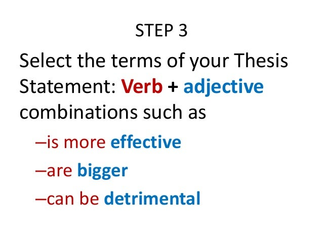 Defining terms in a dissertation