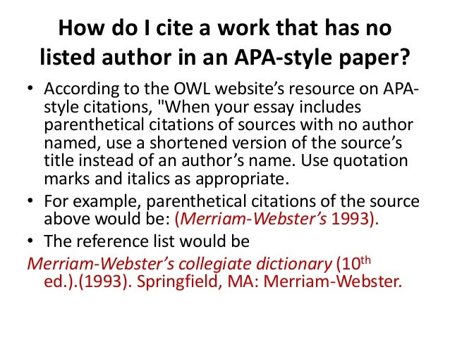 Parenthetical citation essay