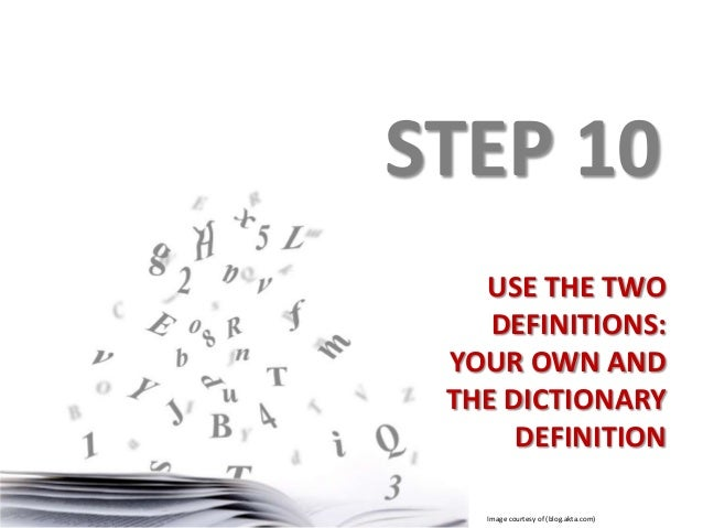 Definition of terms research paper