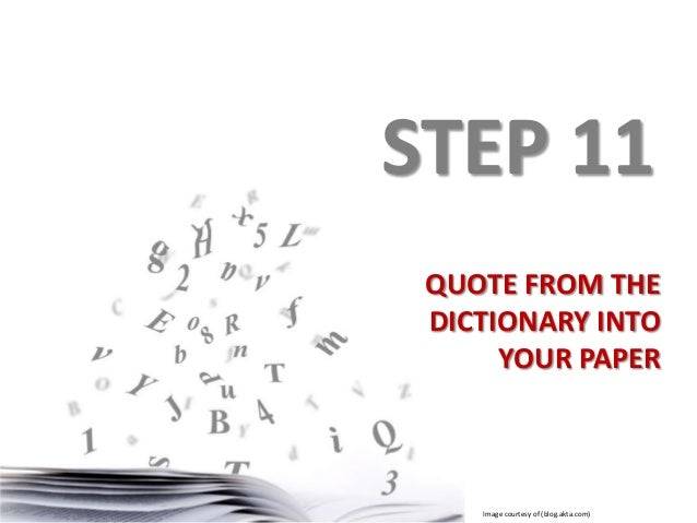 write a essay on dictionary
