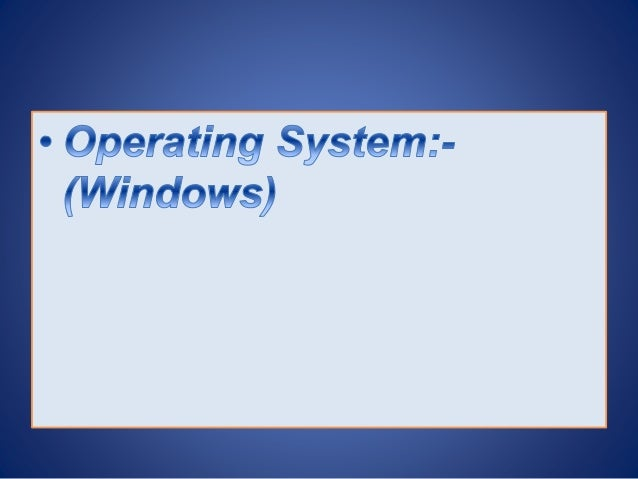 Research paper on windows operating system