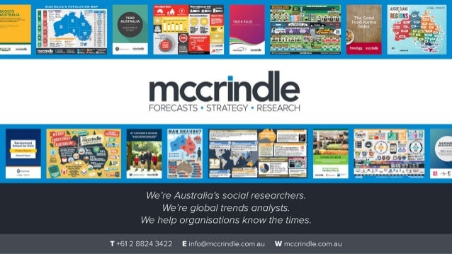 A| Il1|lAI. IA'l roruunou luv  YEAR . . . . AUSTRALIA ' ' #4 mum must  mccrindle  FORECASTS - STRATEGY - RESEARCH     We '...