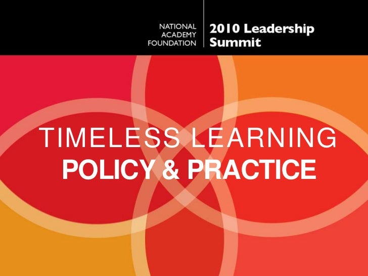 TIMELESS Learning<br />Policy & Practice<br />