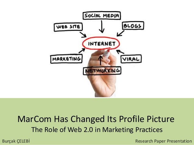 MarCom Has Changed Its Profile Picture The Role of Web 2.0 in Marketing Practices Burçak ÇELEBİ Research Paper Presentation