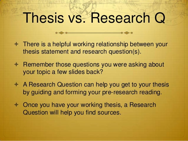 is a research question the same as a thesis It all begins with a good research question a good research question is the key to an excellent thesis a bad research question can only result in a poor thesis.