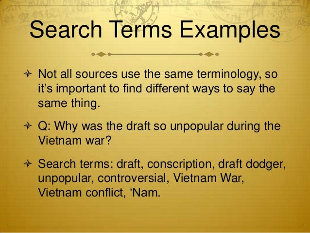 Research paper on vietnam draft r5h