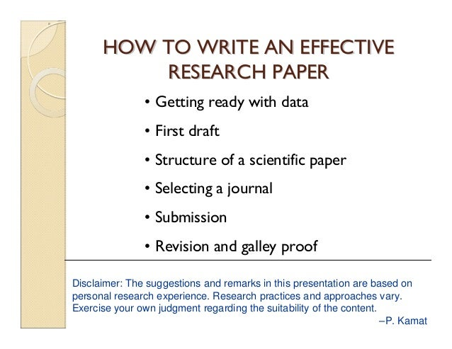 how to write a outline for a research paper