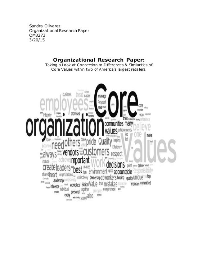 Research paper on planning organization