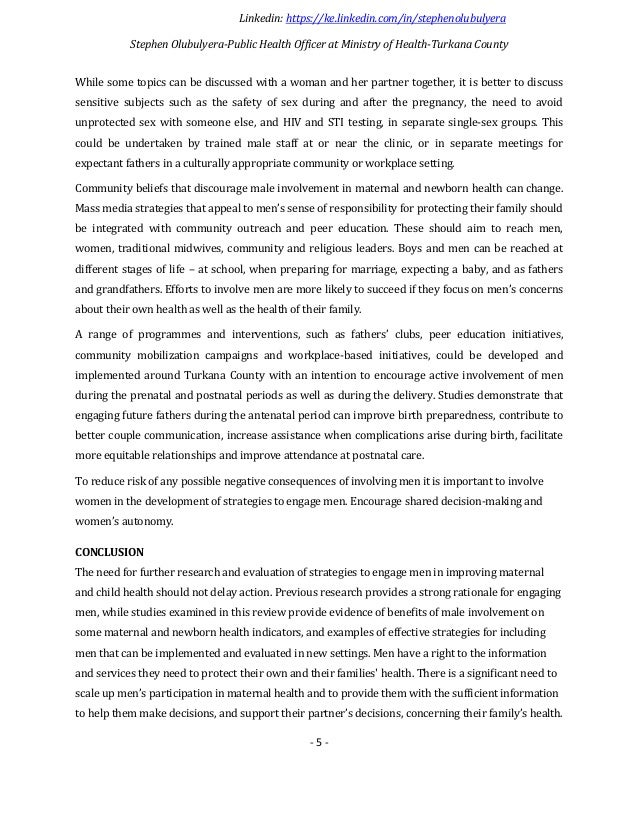 Research paper on health