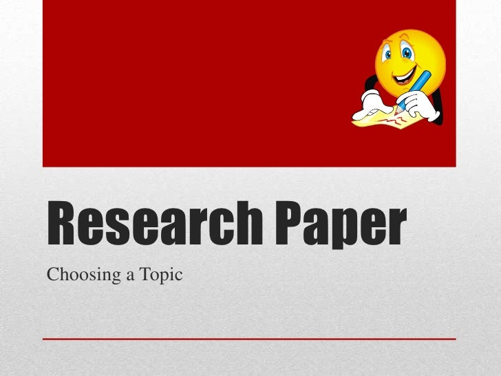 good topic for research paper