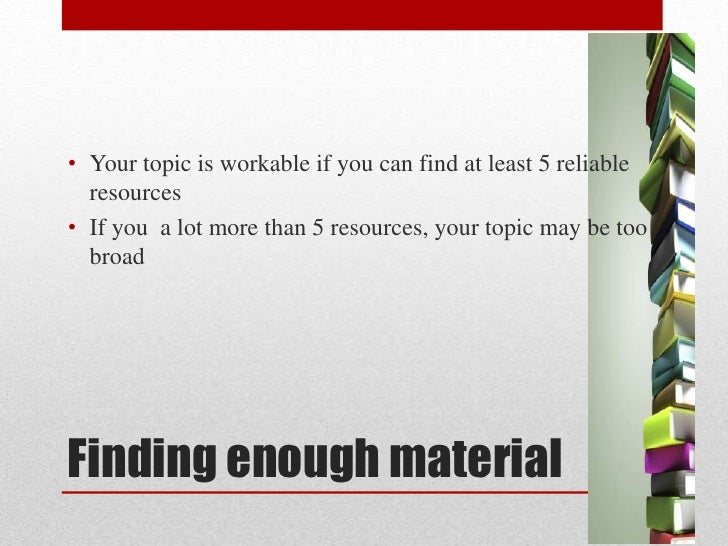 research topic 3 Tips on how to select and refine your research topic.