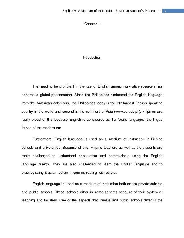 research study about english language pdf