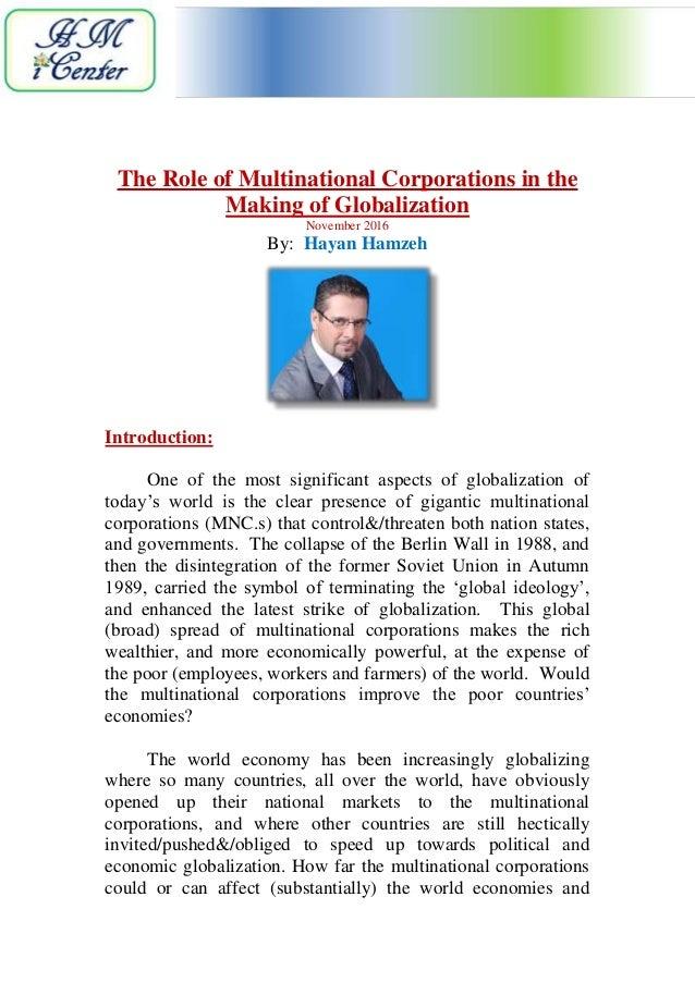 role of mnc in international politics