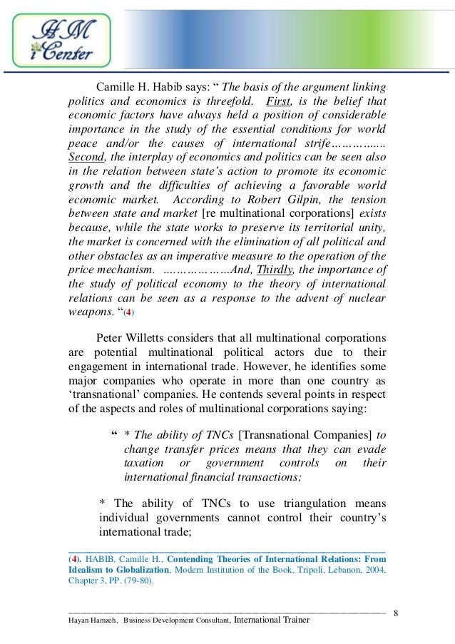 Research paper The Role of MNCs in the Making of Globalization