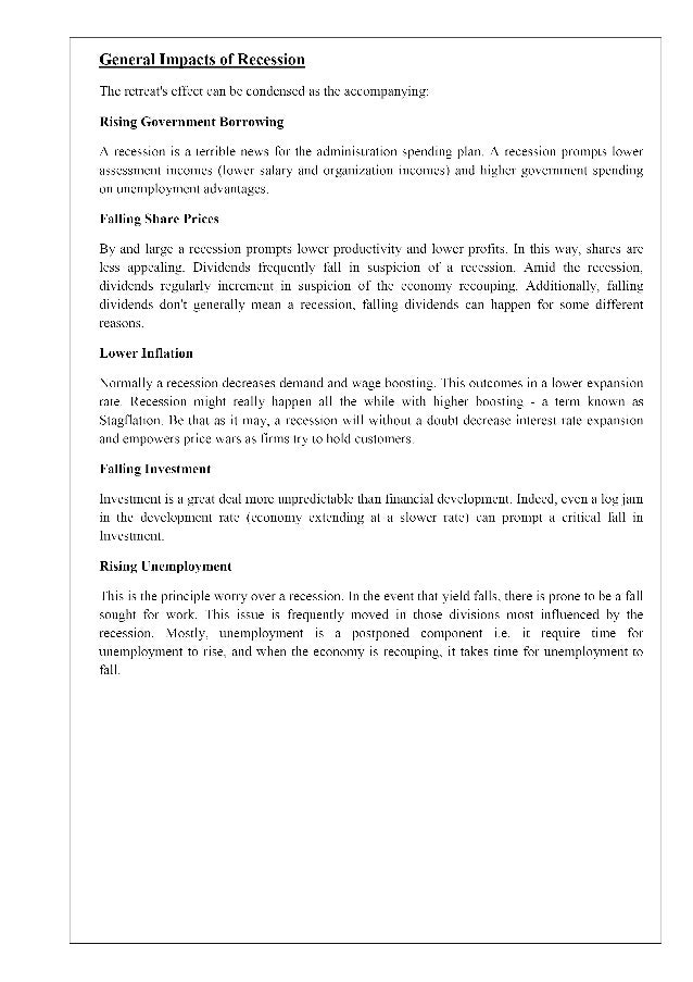 how to write a good essay on economic recession global recession essay examples studentshare net