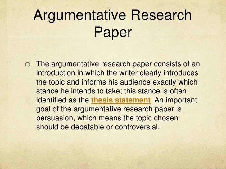 topics for argumentative research paper Most students are comfortable with essay topic developed with experts we provide argument essay topics that will be quickly accepted at your school.