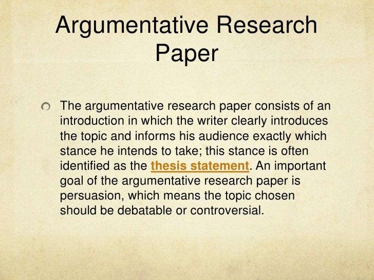 argumentative research
