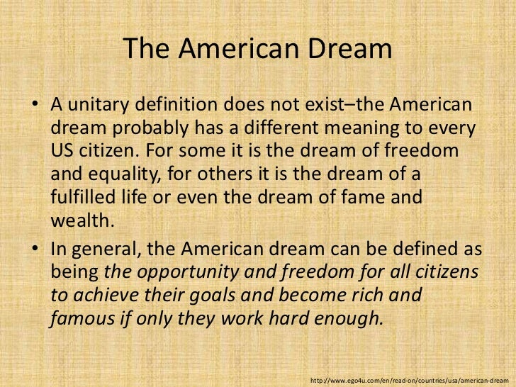 What dreams do Americans share? Essay Sample
