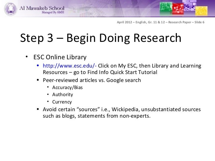 Places to get research paper sources