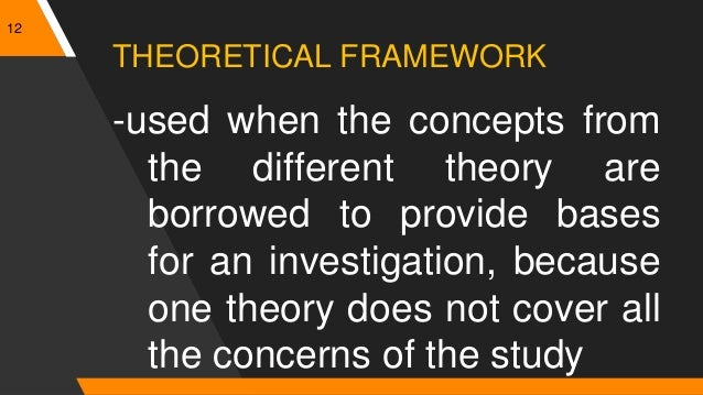 conceptual or theoretical bases for research Theoretical / conceptual framework (theory, model): abstract, theoretical basis for the study allows the researcher to link the findings from the study to a larger body of nursing knowledge framework is a testable theory, developed in nursing or another related discipline.