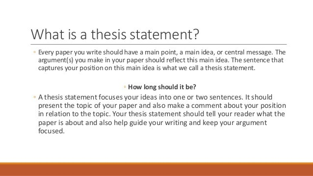 research paper topics and thesis statements