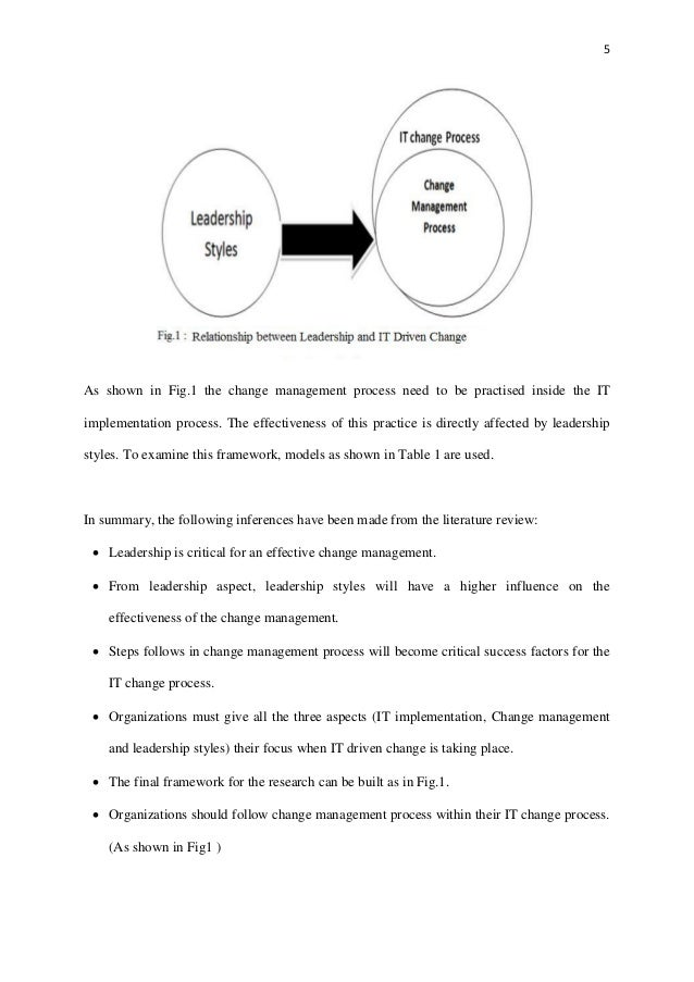 Change Management Thesis Topics