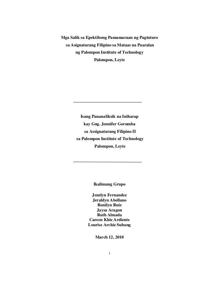 term paper titles tagalog