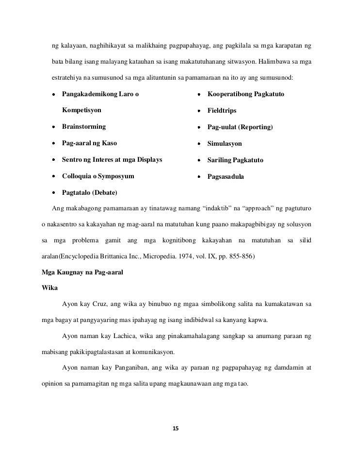 research paper sa asignaturang filipino