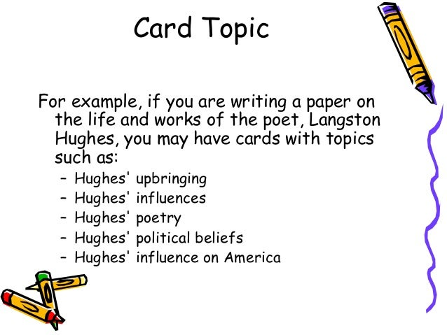 term paper note cards This smartboard lesson shows students how to format note cards when writing a  research paper it covers two types of note cards: bibliography.