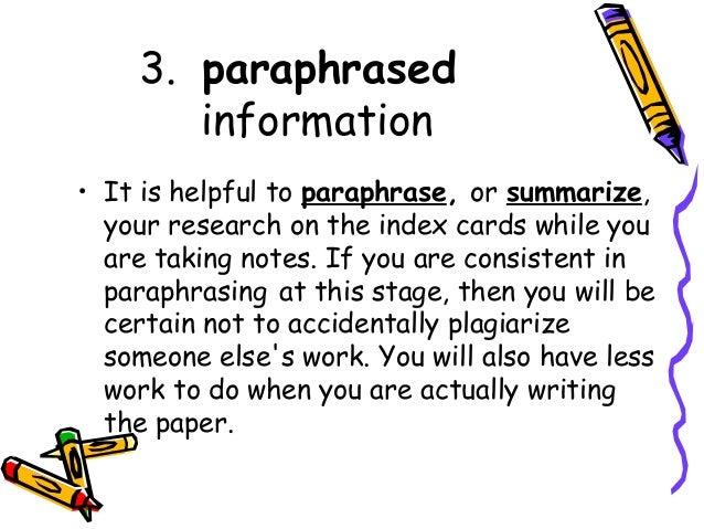 card note paper research write