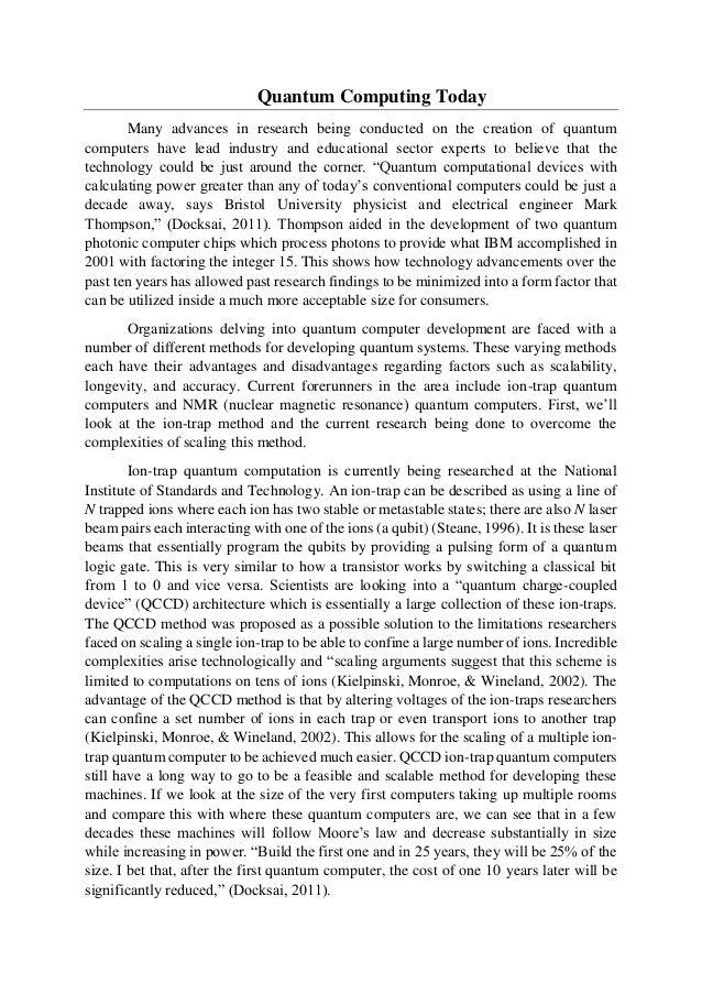 quantum computing term paper