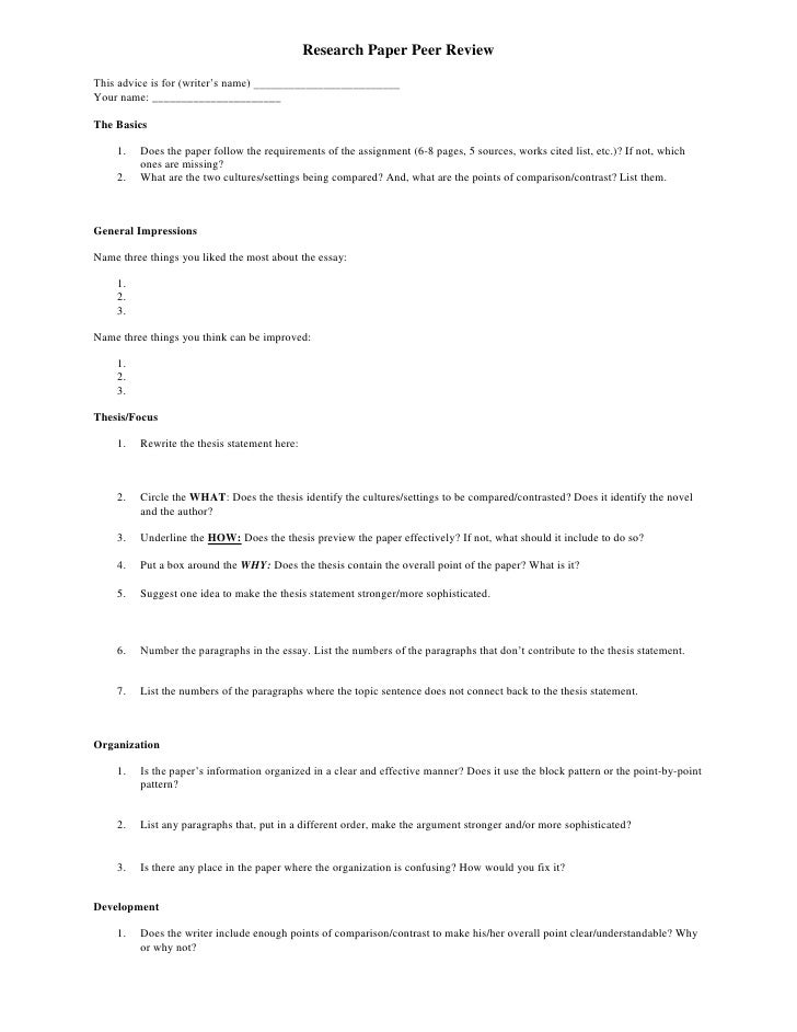 5 paragraph essay peer edit sheet