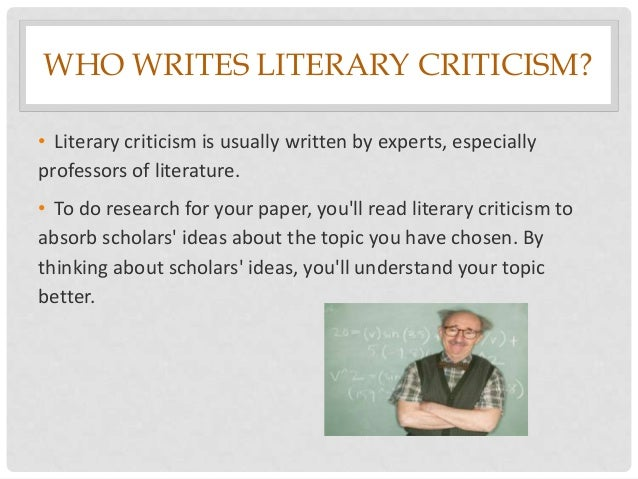 How to write a literary criticism paper